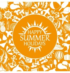 Happy summer holiday vector