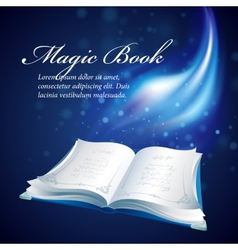 A magical book vector