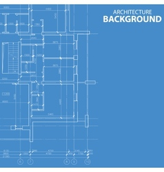 Blueprint architecture model vector