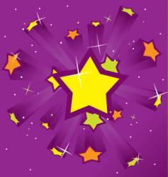 Purple starburst vector