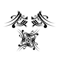Black-white tribal tattoo design vector