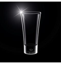 Empty glass on black vector
