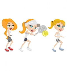 Sport girls vector
