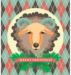 Sheep symbol of 2015 vector