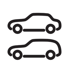 Set of silhouettes of cars vector