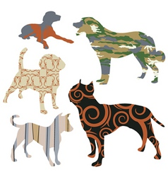 Dog design set vector