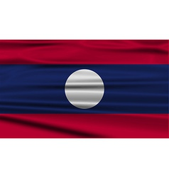 Flag of laos with old texture vector