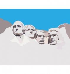 Mount rushmore national memorial vector