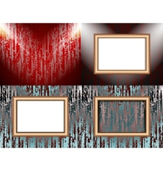 Set of colorful abstract backgrounds and frames vector