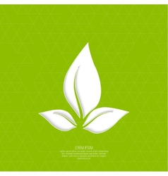 Green eco friendly background vector