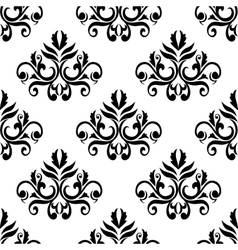 Leaves and tendrils compositions seamless pattern vector