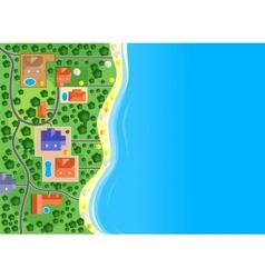 Houses on the sea coast vector