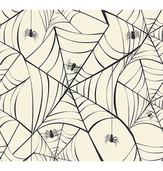 Happy halloween spider webs seamless pattern vector