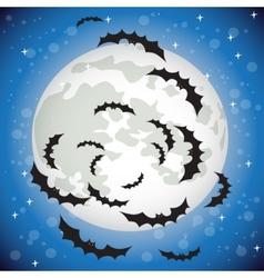 Bats flying in the night sky vector