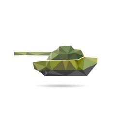 Tank icon abstract vector