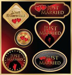 Just married golden labels vector