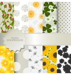 Floral scrapbooking vector