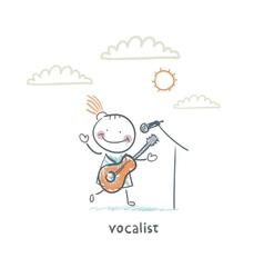 Cantatrice vector
