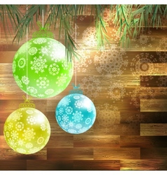 Christmas fir tree with decoration eps 10 vector