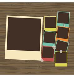 Photo frames composition vector