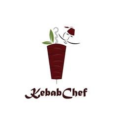Kebab chef vector