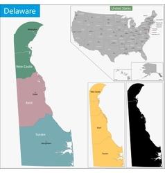 Delaware map vector
