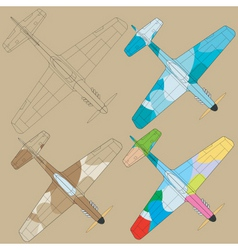Painting planes vector