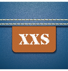 Xxs size clothing label - vector