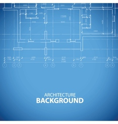 Blueprint building background vector
