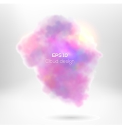 Creative cloude smoke for your design vector