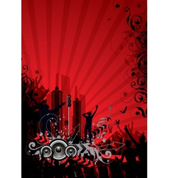 Red city background vector