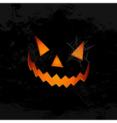 Happy halloween pumpkin face spider web eps10 file vector