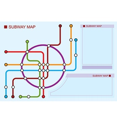 Subway map vector