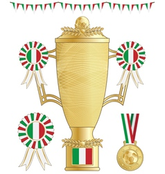 Italy football trophy vector
