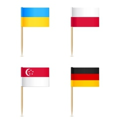 Flags toothpick icon vector