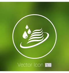 Abstract symbol of a water icon drop wave sign vector