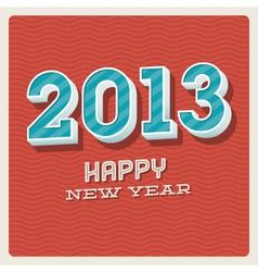 Happy new year 2013 typographic card vector