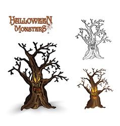 Halloween monsters spooky tree eps10 file vector