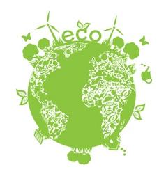 Green planet vector