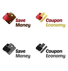 Save money with coupons vector