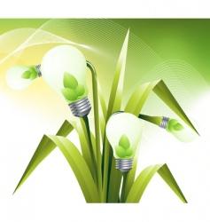 Lamp flower vector