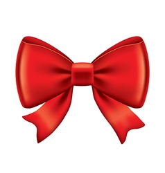 Object red bow vector