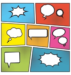 Blank speech bubbles vector