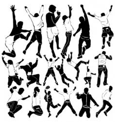 Dancing and party men vector