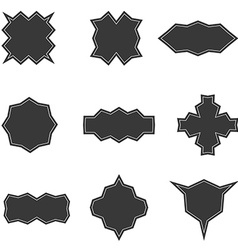 Set of banners in dark style templates vector