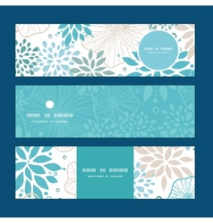 Blue and gray plants horizontal banners set vector
