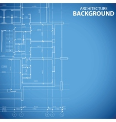 Blueprint building model vector