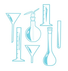 Laboratory equipment vector