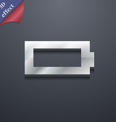 Battery empty icon symbol 3d style trendy modern vector