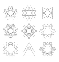 Set of design elements abstract decorative vector